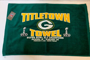 Packers Super Bowl 45 Champions Titletown Towel w score NWT