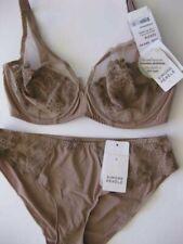 Simone Perele DELICE 12D / 34D Full Plunge Bra Sz 3 Bikini Chestnut Rp$150