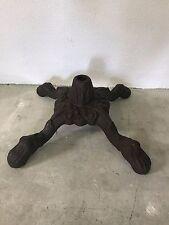 Antique Heavy Cast Iron Base Stool Stand legs/feet black vintage machine age