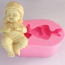 Molde de Silicona de dormir bebé alimentos seguros Decoración Sugarcraft Glaseado Molde Para armar uno mismo