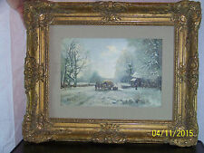*Louis Apol* Major Listed Artist Hague School Antique Oil On Panel Winter Scene