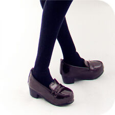 New 1/3 BJD SD DD Doll Shoes Black/Brown Bright surface Lovely Uniform shoes