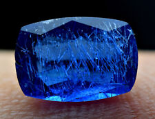 0.70 Ct fluorescent blue color Afghanite Maybe W/unknown Needles cut Gemstone@AF