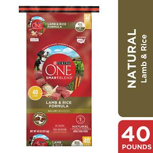 Purina ONE Natural Dry Dog Food; SmartBlend Lamb & Rice Formula - 40 lb. Bag