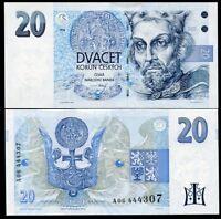 CZECH REPUBLIC 20 KORUN 1994 PREFIX A P 10a UNC