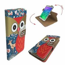 Mobile Phone Book Cover Case For Energizer Power Max P600S - Deer Owl L