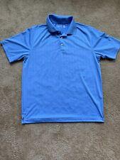 Walter Hagen 11 MAJORS Men's Golf Polo Shirt Light Blue Sport Large