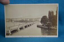 1870s CDV Photo Geneve Et Mont Blanc Switzerland Suisse Auguste Garcin