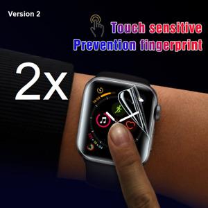 2 x Für Apple Watch Serie Volle Abdeckung Soft Displayschutzfolie SE/6/5/4/3/2/1