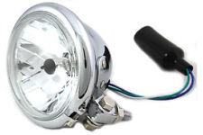 "4-1/2"" Round Headlamp Chrome For Harley Custom Motorcycles"