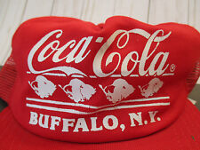 Coca Cola Coke Soda Vtg Retro Buffalo New York Baseball Hat Cap Snap Back USA