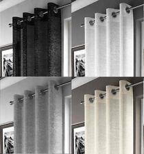 ADELE VOILE Panel Net Sparkle Effect Curtain Eyelet Heading