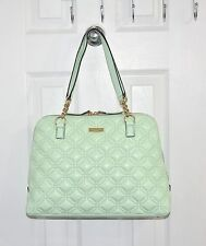 Kate Spade Women's Bag Astor Court Rachelle Quilted Leather WKRU2490 Faded Mint