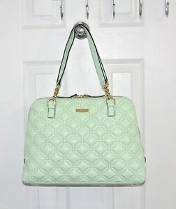Kate Spade New York Astor Court Rachelle Quilted Leather Bag Faded Mint