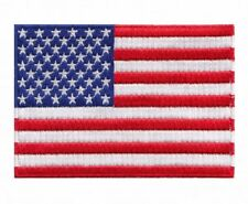 "USA Flag Embroidered Patch Sew On (2.5"" X 3.5"")"