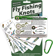 Fly Fishing Knot Cards - Waterproof Guide to 14 Essential Fly Fishing Knots - In