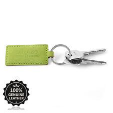 Surazo® Echtes Leder Schlüsselanhänger Edelstahl Schlüsselring Neu Grün