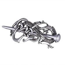 Antique Silver Vikings Dragon Hairpins Hair Clips Stick Slide Vintage