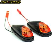 Universal Motorcycle Flush Mount LED Turn Signal Indicators Blinker Amber Light