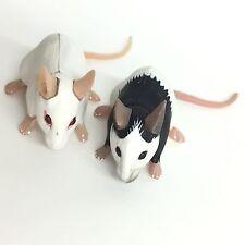 Choco Q Mini Figure Mouse White & Panda Set Kaiyodo Japan choco egg