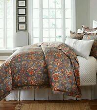 NEW Southern Living Serafina Full/Queen Floral Jacquard Duvet Mini Set
