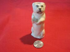 Antique porcelain Pug dog whistle figurine