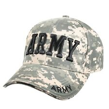 US Army Embroidered Ball Cap Hat Infantry Airborne Cavalry OIF OEF ACU Camo