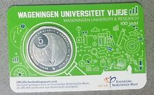 Netherlands 5 euro 2018. Wageningen University. Official coincard