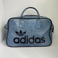 De Colección Adidas Azul Original Peter Negro años 70 Bolsa Bolsa De Viaje