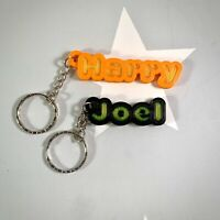 Personalised Keyring/Keychain 3D Printed - Party/School Bags - Stocking Fillers