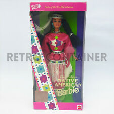 Vintage MATTEL BARBIE - Dolls of the World Native American Barbie NEW MISB MOC