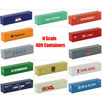 1pc/2pcs/10pcs N Scale 40ft Shipping Container 1:160 Model Cargo Box