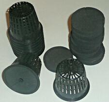 "Hydroponic- Neoprene Root guard clone  3""  & 3 inch net pots 8,16,24 & 32 packs"
