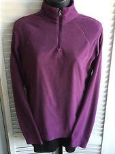 Women's Columbia Half Zip Long Sleeve Microfleece Pullover Sweater Sz S Plum VGC