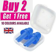 Soft Silicone Ear Plugs A In Case Reusable Anti Noise Sleep Swim Study Work UK