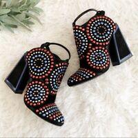 KAT MACONIE Frida Studded Round Toe Block Heel Closed Toe Sandals Size 8.5