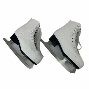 American Athletic Shoe Ice Figure Skates Women's Size 5 White Leather Lace Up