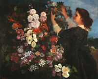 The Trellis Gustave Courbet Woman Art Print CANVAS Giclee Painting Repro Small