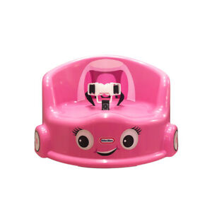 Little Tikes Cozy Coupe Kids Plastic Table Chair Booster Seat with Harness, Pink