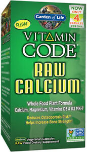 Vitamin Code RAW Calcium by Garden of Life, 60 capsules