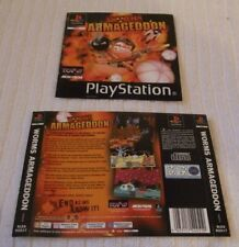 PLAYSTATION ONE GAME INLAY/ARTWORK COVERS  *** WORMS ARMAGEDDON *** VGC