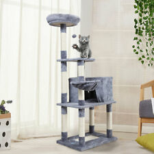"""Cat Tree Tower Condo Furniture Scratching Kitty Pet Play House Grey 60"""""""