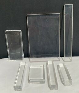 Clear Block Rubber Stamp Mounts Lot of 7