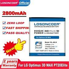 LOSONCOER 2800mAh BL-48LN BATTERY For LG Optimus 3D MAX P720 P725 Elite LS696