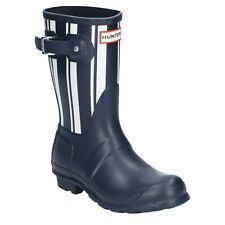 Hunter Original Short Garden Stripe Womens Wellington Boots Waterproof Wellies