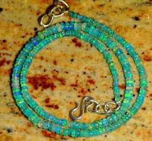 Funkelnde Feueropal Halskette 37 Crts Natural Ethiopian Welo Green Opal