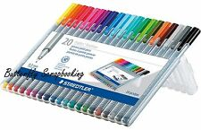 FINELINER PENS SET 20 Triplus Super Fine Line Colors Set in Case STAEDTLER New