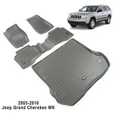 2005-2010 Jeep Grand Cherokee WK Floor Liner Kit GRAY Rugged Ridge 14988.33