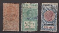 Italy 3 early stamps possibly fiscal