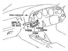 Genuine Toyota 1993-1998 Supra MKIV A/C Control Back-light Bulb 84999-70009
